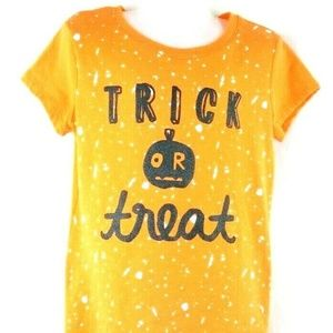 Trick or Treat Halloween T-Shirt Orange Size 6 6X